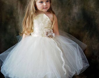 Halter Style Girls Ballerina Princess Tulle Dress