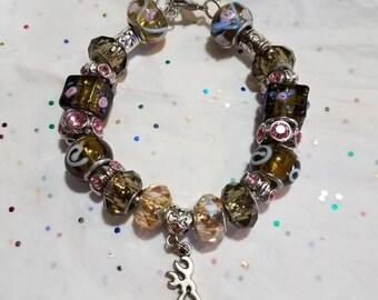 Browning deer bracelet, Pink and green deer head bracelet, Browning bracelet, Deerhead bracelet,Camo Jewelry, Browning Jewelry,Browning deer