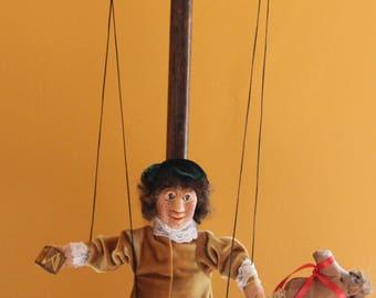 Beautiful Mahogany Marionette Display Stand