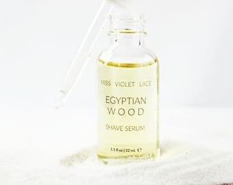 Shave Oil | Shaving Oil with Egyptian Myrrh, Jasmine, Cypress and more | 100% natural and vegan shaving oil | Egyptian Wood