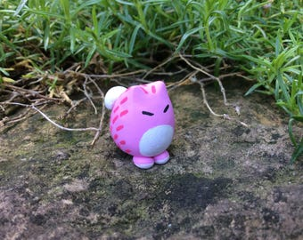 Miniature Pink Cat Figurine