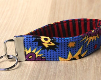 Key Fob Wristlet - Comic Book Words - Ready to Ship