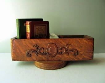 Vintage Sewing Machine Drawer Wood Box Tiger Oak Storage Bin Drawer Wooden Organizer Singer Singer Treadle Book Flower Box Sewing Room Decor