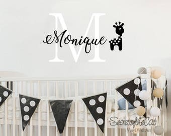 Childrens Name Wall Decal - Children  Wall Decal - Girl Name Decal - Playroom Wall Decal - Nursery Wall Decal
