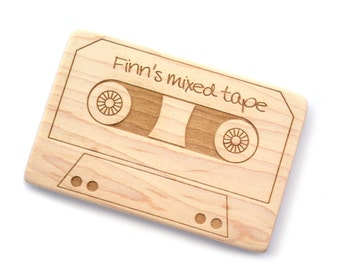 Geek teething toy mix tape cassette personalized baby teether toy teething retro toy