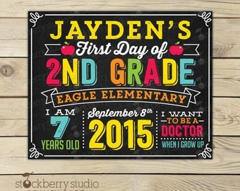 First Day of School Sign - 1st Day of School Sign - First Day of Chalkboard Sign - 1st Day of School Chalkboard Sign - Back to School Sign