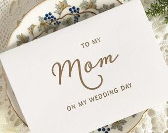 To My Mom On My Wedding Day, Mom Card, Wedding Card Mom, Gift Wedding, Day Cards For Mom Gift, To My Mother On My Wedding Day, Card Mom