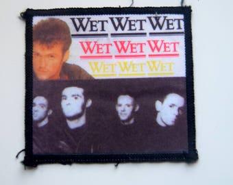 Vintage Wet Wet Wet stitch on patch badge Marti pellow