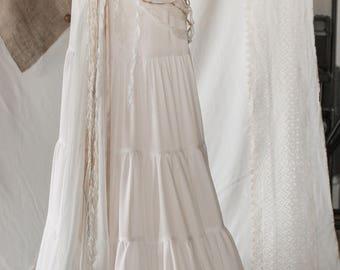 Bohemian - tribal cotton skirt