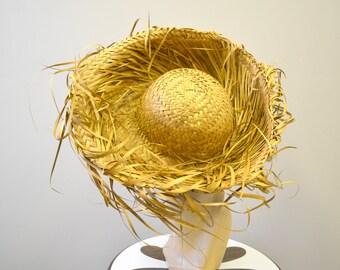 1960s Straw Sun Hat