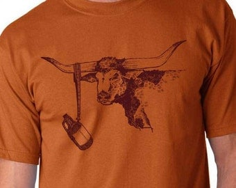 Longhorn Beer Shirt, Craft Beer Shirt, Homebrewer Shirt, Texas Shirt, Steer, Cowboy Shirt, Livestock Show Shirt, Fathers Day