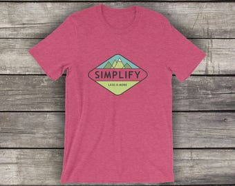 Simplify - Preshrunk Cotton T-Shirt - by Alpine Graphics - Choose Size and Color - T004