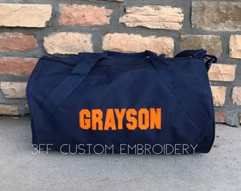 Personalized Monogrammed Embroidered Duffel/Duffle Bag