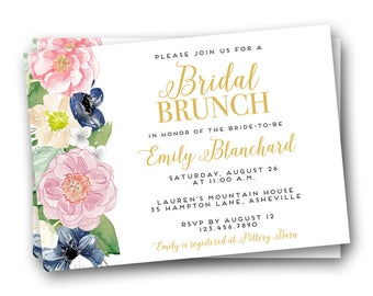 braut brunch einladungen brunch brautdusche einladung rosa, Einladung