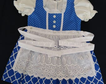 Blue and White Baby Dirndl
