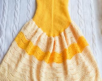 Princess Dress Blanket Crochet Pattern - Dress Blanket Pattern - Crochet Blanket Pattern - Child Blanket Pattern