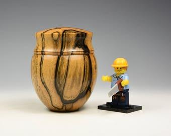 Black and white ebony wooden box, woodturning, gift,