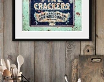 Fixer Upper Kitchen Decor | Rustic Kitchen Wall Art | Farmhouse Kitchen Decor | Teal Turquoise Aqua Country Kitchen Print | Gifts for Women.