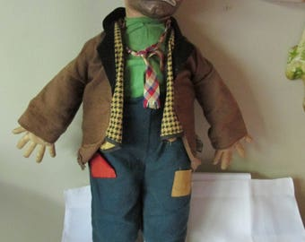 Vintage Rare Emmitt Kelly Clown , Baby Barry Toy, Clown Collectors, Home Decor, Willie The Clown