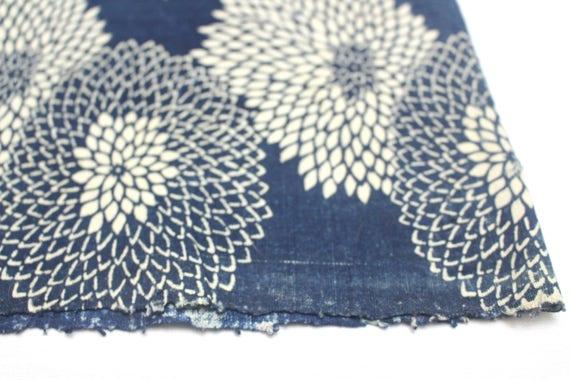 RESERVED Antique Boro Textile. Japanese Katazome Cotton. Indigo / Aizome Fabric (Ref:1379 )