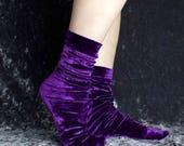 Crystal Ball Velvet Crew Socks