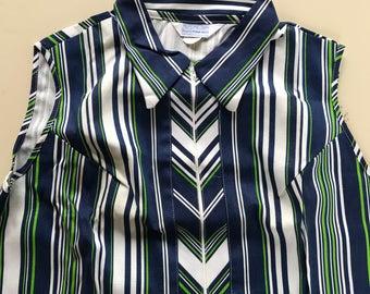 1960s Sears Sleeveless 100% Cotton Perma Prest Dress