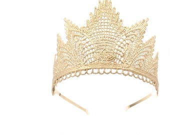 NEW Sevyn || lace tiara || gold, rose gold, silver, or black || photography props