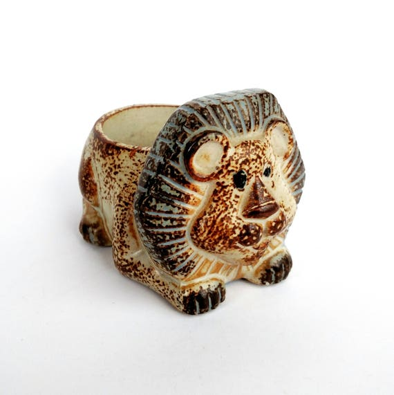 Vintage 1970's Lion Candle Holder by Counterpoint Takahashi - Made in Japan