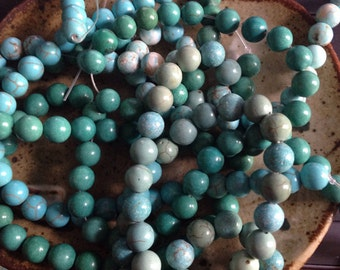 Bulk listing  of 8mm Magnesite round stone beads, natural beads, jewelry supply
