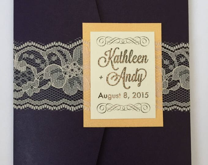 The Kathleen Wedding Invitation Suite