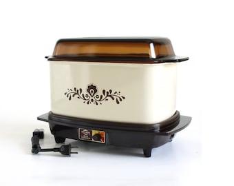 Slow Cooker West Bend 84116 6 qt Rectangular Vintage Almond Brown