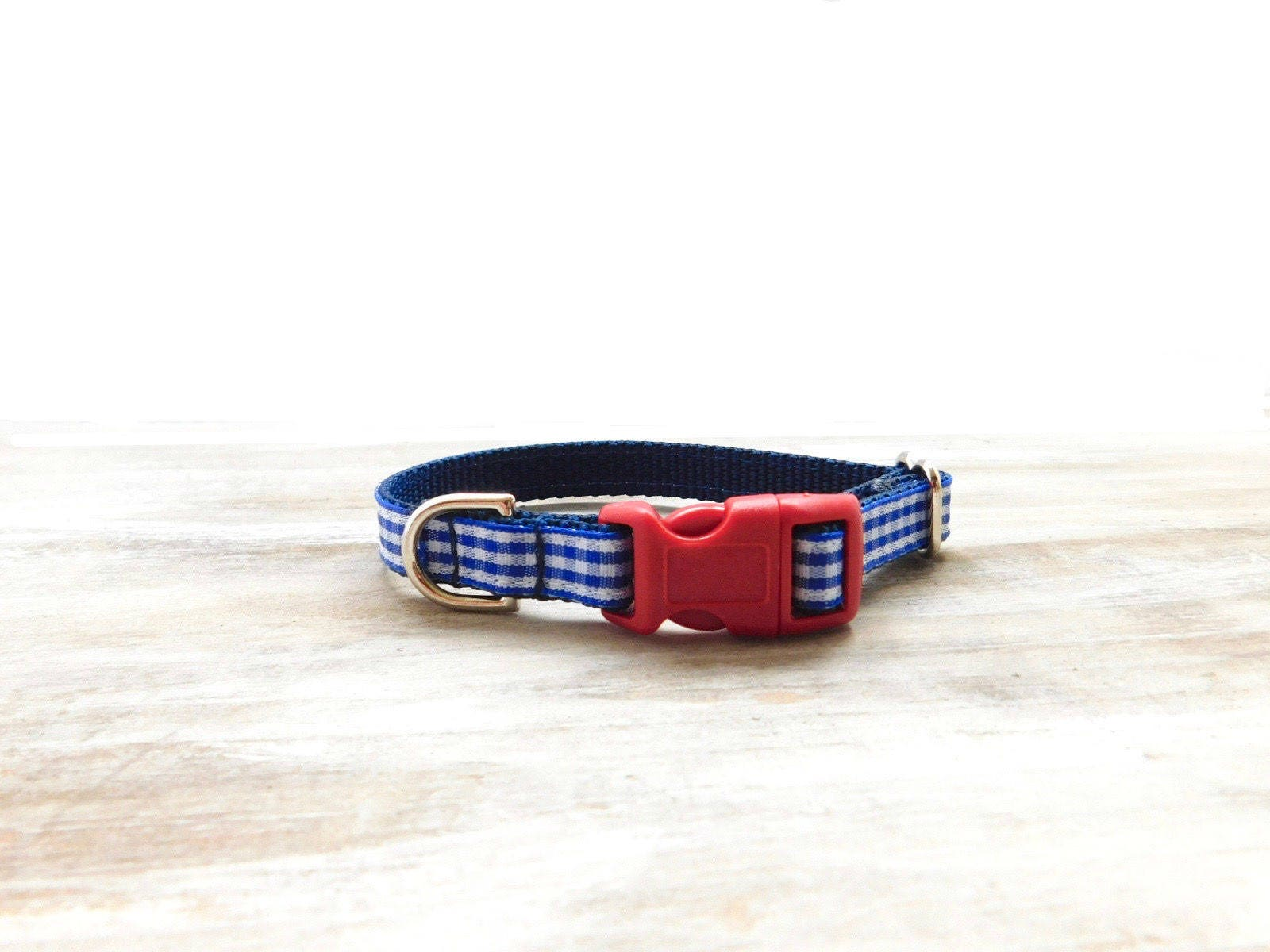 country chic collar red navy gingham collar royal blue