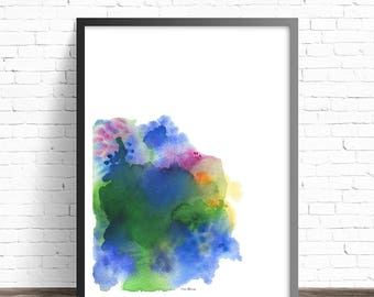 Colorful Modern Art Print. Abstract art painting. Wall Art Prints. Abstract watercolor painting. Colorful wall art. Modern abstract art