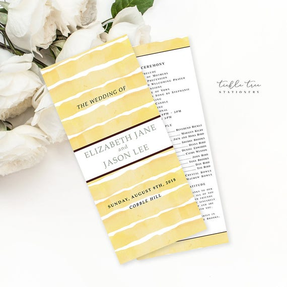 Semi Custom Wedding Stationery - Programs - Sunflower Fields (Style 13627)