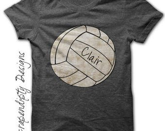 Volleyball Iron on Transfer - Iron on Volleyball Tshirt PDF / Girls Customized Volleyball Shirt / Volleyball Dad / Baby Sports Outfit IT554