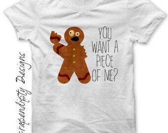 Kids Christmas Shirt, Gingerbread Iron on Transfer, Christmas Digital PDF, Toddler Christmas Tshirt, Kids Funny Christmas, Christmas Iron on