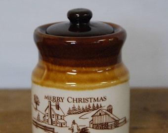 Vintage 1989 Christmas Mini Crock