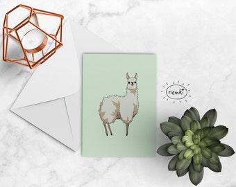 Llama Card, Llama Greetings Card, Llama Printable, Llama Printable Card, Llama Downloadable, Cute Llama Card, Llama Blank Card, Llamas