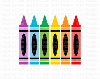 Crayons SVG, Crayon Svg, School SVG, SVG Files, Silhouette Files, Cricut Files, Back To School Cutting Files
