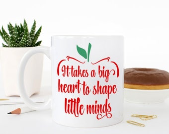 Unique Gifts for Teachers, Teaching Gifts, Teachers coffee mug with Apple, Cute teachers mugs, Preschool Teacher, Teaching Assistant, Staff