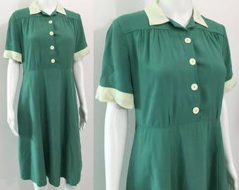 Green 1940's Dress