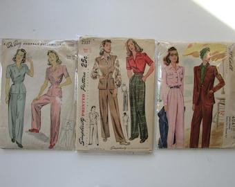 1940s Vintage Suit & Pants Patterns