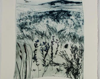 Devon landscape print. Dartmoor National Park.