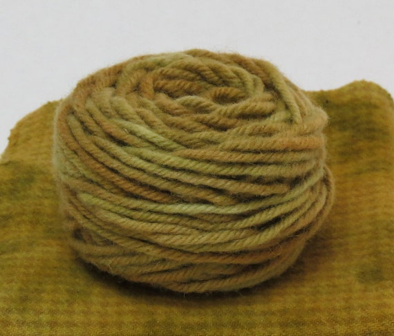 AVOCADO , 100% Wool, 2 Ozs. 43 yards, 4-Ply, Bulky weight or 3 ply Worsted weight already wound into cakes, ready to use. Made to Order