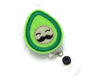 Avocado Badge Reel - Felt Badge Reel - Cute Badge Reels - Nutritionist Badge Reel - Male Badge Reels - Fun ID Wear - Ain't That Somethin'
