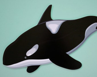 Orca Whale Wall Decoration
