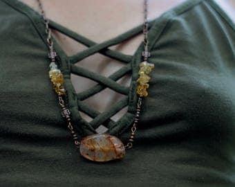 Carnelian & Citrine Necklace