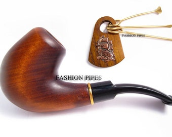 "NEW Set pipe ""Bosun"" & Tamper Ship, Tobacco pipe Smoking Pipes/Pipe Wooden pipe Classic Pipe for Smokers, Best price in FPS"