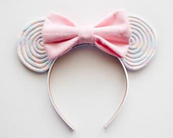 Lollipop Minnie Ears / Pastel Disney Ears / Lollipop Mickey Ears / Minnie Mouse / Mickey Mouse Ears / Minnie Ears Headband / Disney Ears