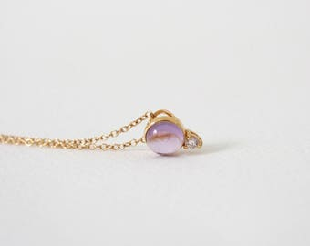 Orb - Amethyst Necklace, Bridesmaids Gift, Gifts for Her